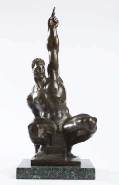 Sculpture by Donald De Lue: Jason (or Jason, Triumph Over Tyranny), represented by Childs Gallery
