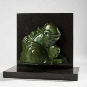Sculpture By Donald De Lue: Mother And Child At Childs Gallery