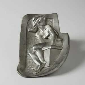 Sculpture By Dudley Vaill Talcott: Girl On A Springboard Ashtray At Childs Gallery