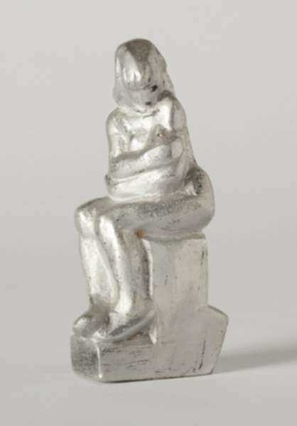 Sculpture by Dudley Vaill Talcott: Girl Sitting on Base, represented by Childs Gallery