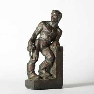 Sculpture By Dudley Vaill Talcott: Man With Grappling Hook At Childs Gallery