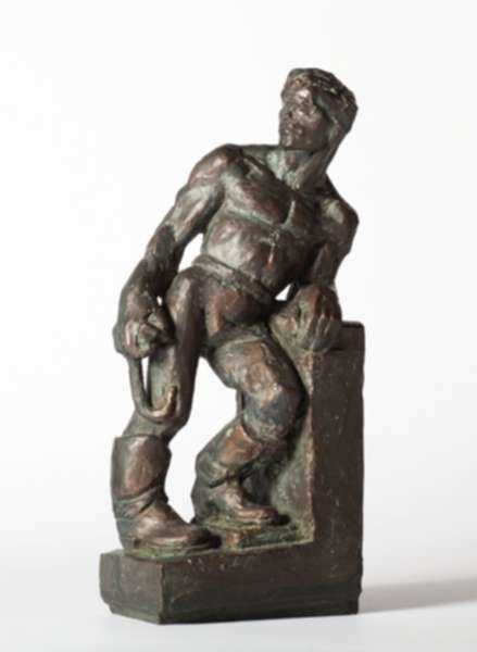 Sculpture by Dudley Vaill Talcott: Man with Grappling Hook, represented by Childs Gallery