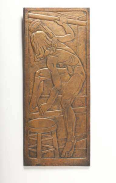 Sculpture by Dudley Vaill Talcott: Woman in Shower, represented by Childs Gallery