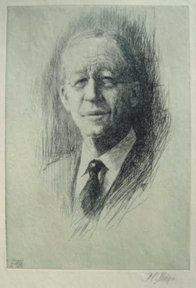 Print by Dwight C. Sturges: Dean Briggs, represented by Childs Gallery