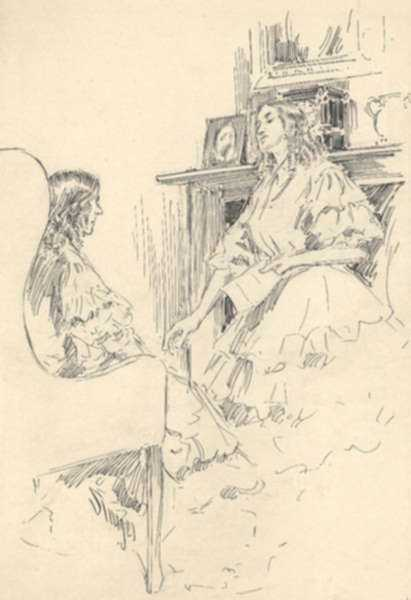 Drawing by Dwight C. Sturges: Told the story to her brother Peter, represented by Childs Gallery