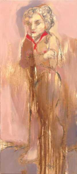 Painting by Edel Bordon: Woman at Age 70, represented by Childs Gallery