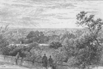 Print by Edward Hull: From the Terrace of Windsor Castle [England], represented by Childs Gallery