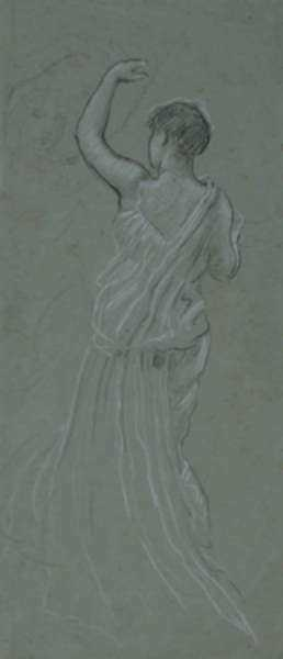 Drawing by Elihu Vedder: Sketch for First Pleiades, represented by Childs Gallery
