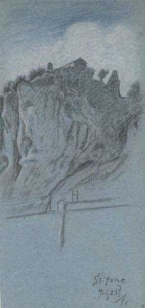 Drawing by Elihu Vedder: Stifone, represented by Childs Gallery