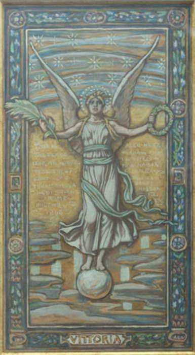Mixed media by Elihu Vedder: Vittoria (Victory), represented by Childs Gallery