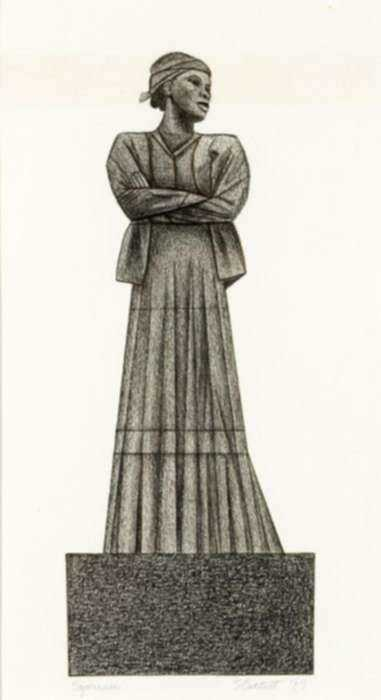 Drawing by Elizabeth Catlett: Sojourner Truth, represented by Childs Gallery
