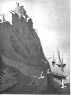 Print by Ellison Hoover: Cap Corse, Corsica, represented by Childs Gallery