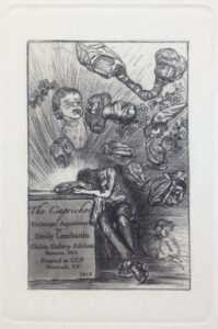 Print By Emily Lombardo: Frontispiece: Study For The Sleep, From The Caprichos At Childs Gallery
