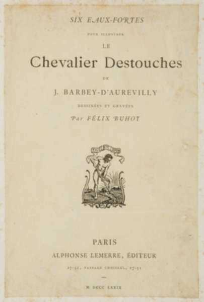 Print by Félix Buhot: Le Chevalier Destouches, represented by Childs Gallery