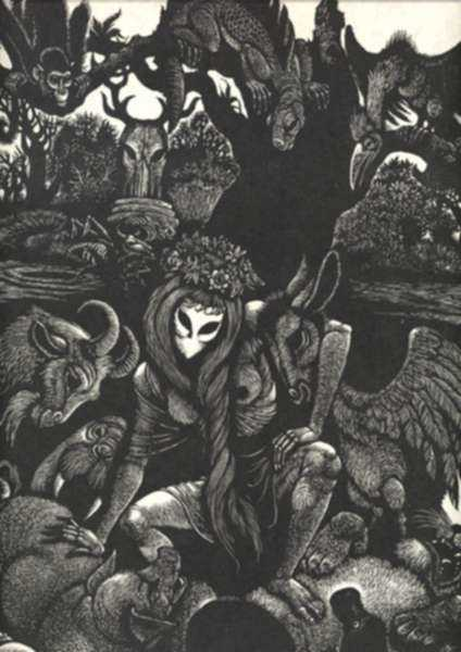 Print by Fritz Eichenberg: Circe Circencis, represented by Childs Gallery