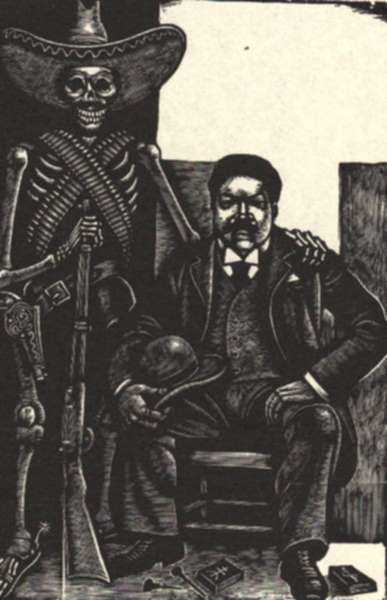 Print by Fritz Eichenberg: Posada [Jose Guadalupe Posada, 1852-1913], represented by Childs Gallery