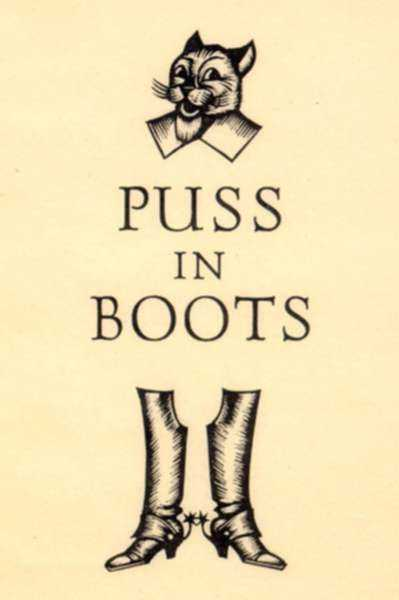 Print by Fritz Eichenberg: Puss in Boots, represented by Childs Gallery