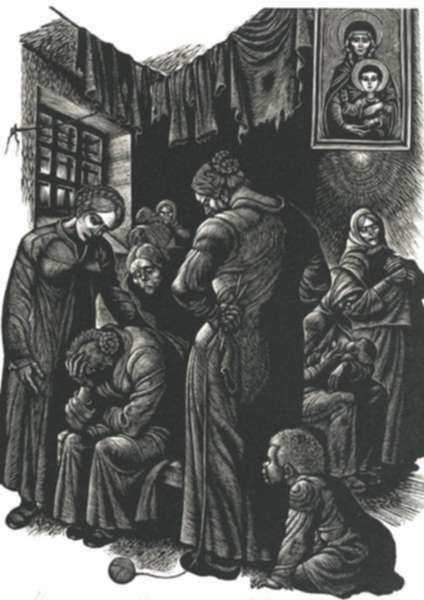 Print by Fritz Eichenberg: Resurrection [Crying], represented by Childs Gallery