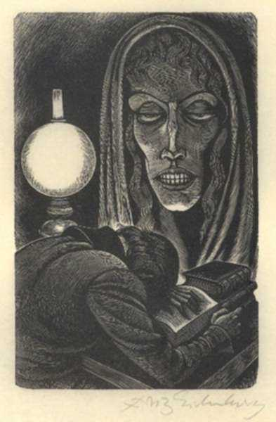 Print by Fritz Eichenberg: Tales of Poe (Berenice), represented by Childs Gallery