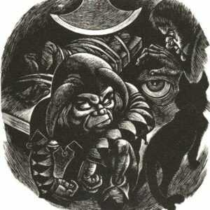 Print by Fritz Eichenberg: Tales of Poe (Frontispiece to Part VI), represented by Childs Gallery