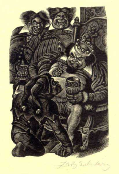 Print by Fritz Eichenberg: Tales of Poe (Hop-Frog), represented by Childs Gallery