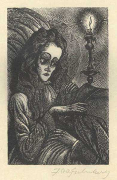 Print by Fritz Eichenberg: Tales of Poe (Ligeia), represented by Childs Gallery