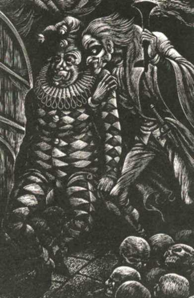 Print by Fritz Eichenberg: Tales of Poe (The Cask of Amontillado), represented by Childs Gallery