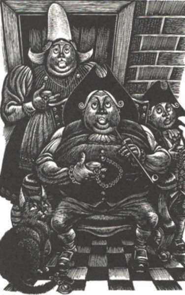 Print by Fritz Eichenberg: Tales of Poe (The Devil in the Belfry), represented by Childs Gallery