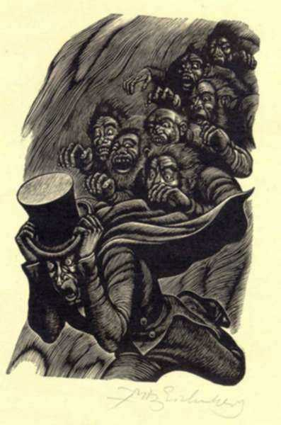 Print by Fritz Eichenberg: Tales of Poe (The Imp of the Perverse), represented by Childs Gallery