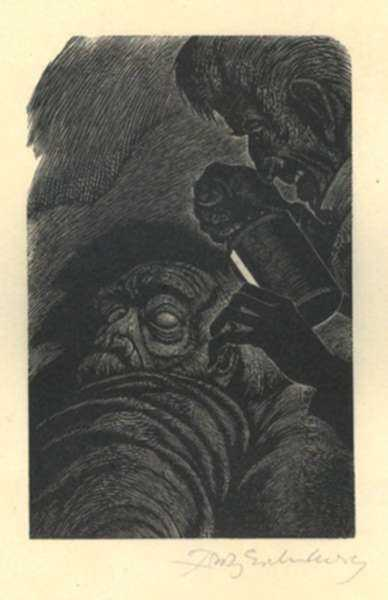 Print by Fritz Eichenberg: Tales of Poe (The Tell-Tale Heart), represented by Childs Gallery