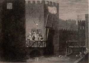 Print by George Cruikshank: Courtenay's escape from the Tower, represented by Childs Gallery