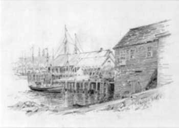 Drawing by George F. Bosworth: [Gloucester (Massachusetts)], represented by Childs Gallery