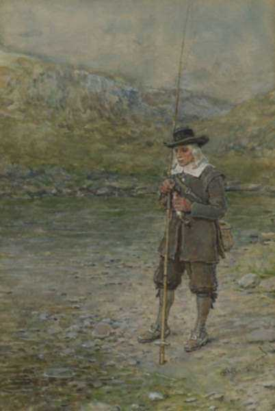 Watercolor by George Henry Boughton: [Izaak Walton], represented by Childs Gallery