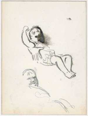 Drawing by George Luks: [Studies of a Child], represented by Childs Gallery