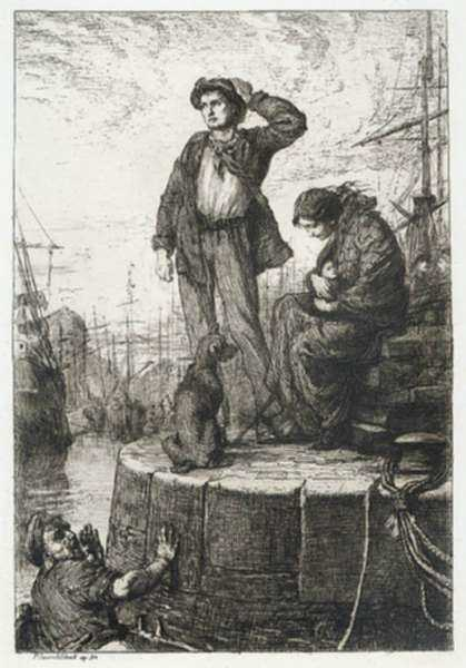 Print by George Percy Jacomb-Hood: Last of England, represented by Childs Gallery