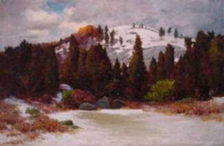 Painting by George W. Harvey: Early Winter, Annisquam, [Massachusetts], represented by Childs Gallery