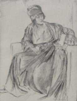 Print by Gerald Leslie Brockhurst: Geneviève, represented by Childs Gallery