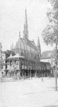 Print by H. Gordon Warlow: La Ste. Chapelle, Paris, represented by Childs Gallery