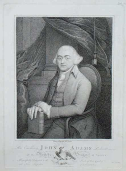 Print by H. Houston: His Excellency John Adams President of the United States of , represented by Childs Gallery