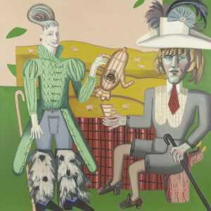 Painting By Hannah Barrett: Rustics: Summer Shepherds At Childs Gallery