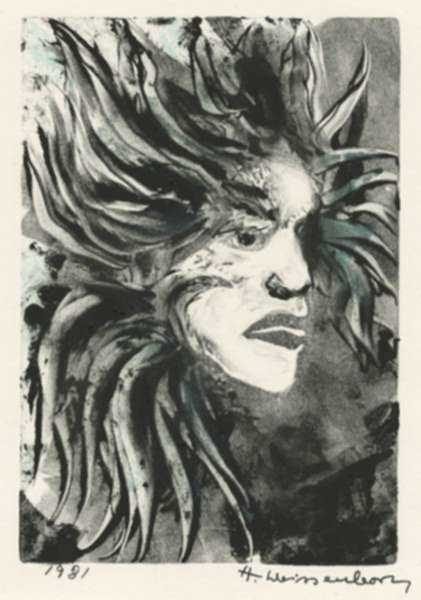 Print by Hellmuth Weissenborn: [Mythic Creature], represented by Childs Gallery