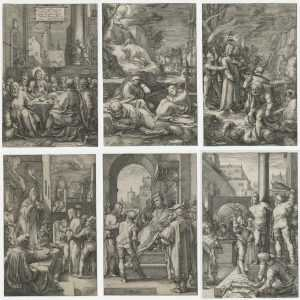 Print By Hendrick Goltzius: The Passion At Childs Gallery