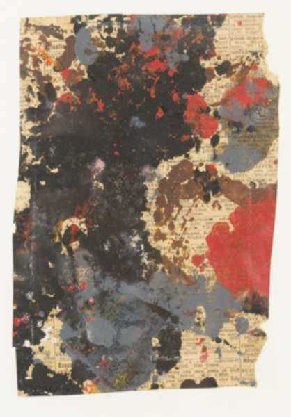 Mixed media by Henry Botkin: [Abstract in Black and Red], represented by Childs Gallery