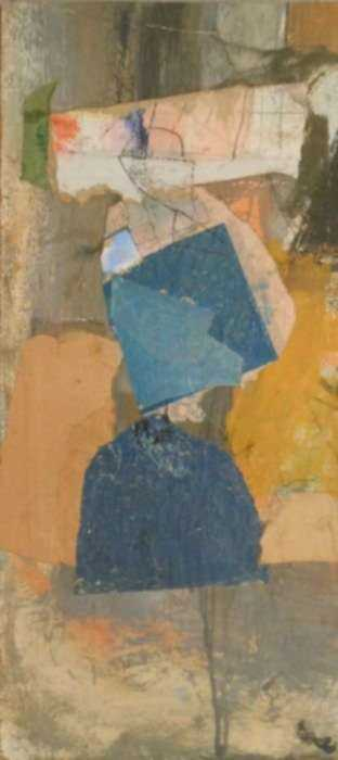 Collage by Henry Botkin: Apparition, represented by Childs Gallery
