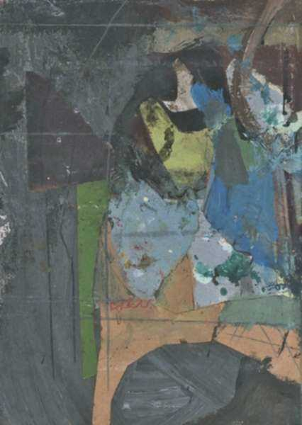 Collage by Henry Botkin: Gray and Tan, represented by Childs Gallery