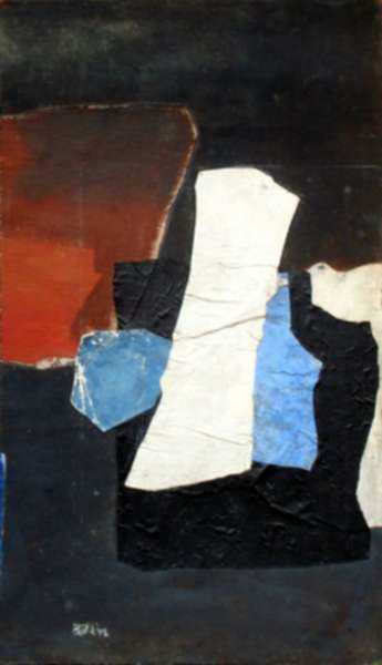 Collage by Henry Botkin: Guro III, represented by Childs Gallery
