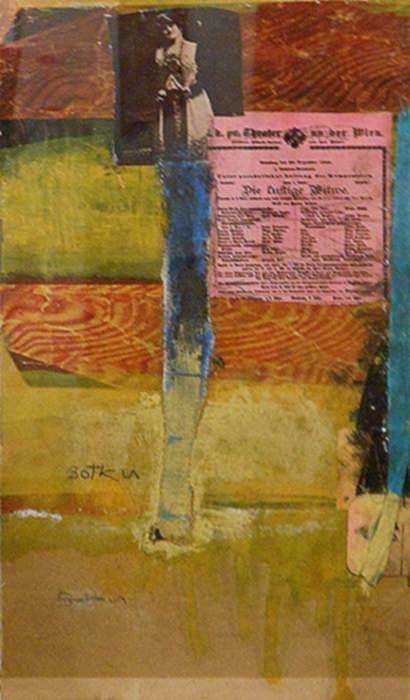 Collage by Henry Botkin: Theatre, represented by Childs Gallery