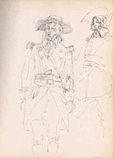 Drawing by Henry C. Pitz: Sketch of Soldier (2), represented by Childs Gallery