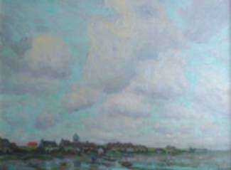 Painting by Henry Rodman Kenyon: Low Tide-French Coast, represented by Childs Gallery