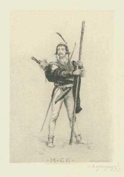 Print by Ignaz Marcel Gaugengigl: M.C.C. [1200], represented by Childs Gallery